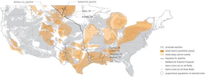 Hydraulic Fracturing Sites in the US